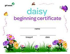 girl scout bridging ceremony ideas | GSJS DAISY BEGINNING CERTIFICATE - Girl Scouts Online Store