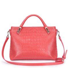 Pink Authentic Leather Handbag Hobo Boston Speedy by Fungalicious, $99.00