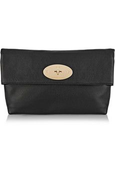8c94cbfec2be Mulberry - Clemmie textured-leather clutch. Best PursesWomens PursesShades  Of BlackDust BagLeather ...