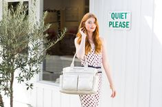 Classic handbag-style tote keeps all your essentials organized and within reach, with over nine pockets thoughtfully placed just where you need them. Made from 100% polyurethane vegan leather.   Honest Everything Tote, now available in Platinum!