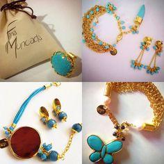 By @finamoncada Hermosas joyas hechas a mano con gemas turquesas y baño de oro. - Descubre más hermosos diseños en @finamoncada @finamoncada @finamoncada - #DirectorioMModa #MModaVenezuela #Venezuela #Jewelry #Fashion #Trends #Glam #FashionLover #Latinoamerica #Worldwide #Accesories