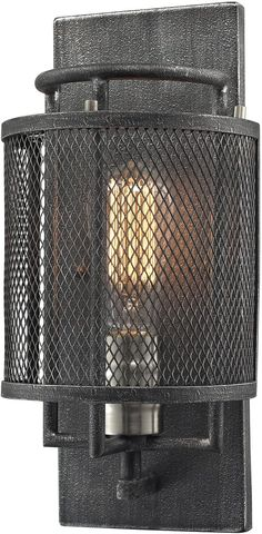 """0-002453>6""""""""w 1-Light Wall Sconce Oil Rubbed Bronze"""