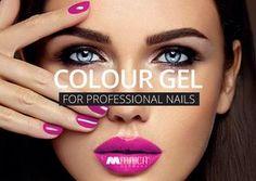 Farbgele von Maica Germany  Mit den aktuellen Trendfarben wird jede Nagelmodellage zum absoluetn Hingucker. Professional Nails, Trends, Germany, Cosmetics, Color, Colour, Beauty Products, Deutsch, Colors