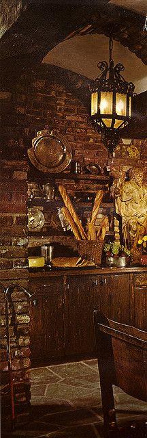 Kitchen Witchery:  #Witch's #Kitchen ~ 1970s Architectural Digest kitchen.