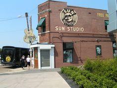 Outside Sun Records, inside....memories of the Million Dollar Quartet!
