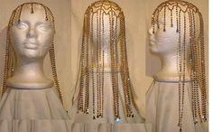 Studio 54 Rhinestone Gold with Aurora Borealis stones Hairpiece – CrownDesigners,