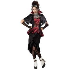 I love Steampunk Victorian Vampiress costume