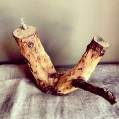 Awesome Tree Stump Lamp from Beards and Banjo's