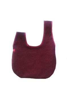 Japanese Bag Kyoto Bag Red Purple Japanese Purse by VATINEL