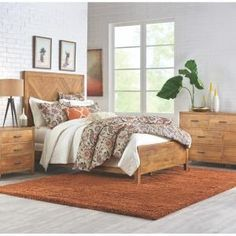 Home Decorators Collection Parkston Distressed Natural King Bed Frame-9833110960 - The Home Depot