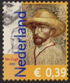Vincent van Gogh auf Briefmarke aus den Niederlanden von 2003