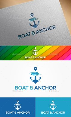 Boat & Anchor Logo EPS Template • Click here to download : https://graphicriver.net/item/boat-anchor-logo/17467898?ref=pxcr