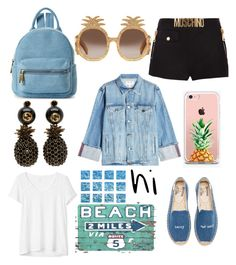 """""""perfect outfit for a walk with your boyfriend on the beach"""" by ene-andreea on Polyvore featuring Street Level, Frame, Gap, Gucci, Moschino, The Casery, William Stafford and Soludos"""