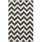 Found it at Wayfair - Marrakesh Meridian Chevron Black Rug(out of stock for a while)
