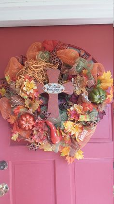 Check out this item in my Etsy shop https://www.etsy.com/listing/479813673/fall-and-autumn-deco-mesh-wreath