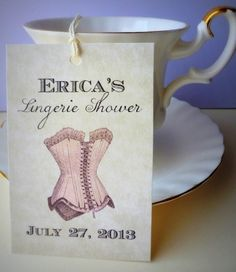Printable Bridal Shower Favor Tags DIY Lingerie by EventPrintables, $12.00