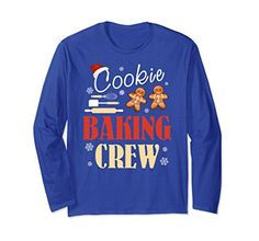 Great Christmas Gift Mother & Wife Grandmother Ugly Fun Christmas Cute Sweater Shirt For Bakers Super Ugly Funny Christmas Awesome Sweater Shirt for anyone that loves baked goods sweets and sugar will love this shirt also great for kids who are going to help on kitchen for adults cooking sweet cakes and stuff. Cookie Baking Crew Shirt with long sleeves is an awesome Christmas gift idea for your mother who loves to cook super amazing cookies on Christmas and pumpkin pie on Thanksgiving Day…