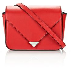 Alexander Wang Prisma Envelope Sling In Cult With Rhodium ($750) ❤ liked on Polyvore featuring bags, handbags, red, alexander wang, alexander wang bag, sling handbags, alexander wang purse and flap handbags
