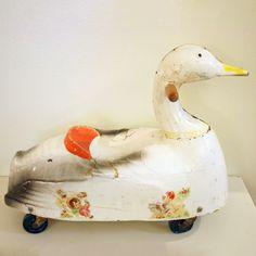Gertie Paper Mache Mobile Goose