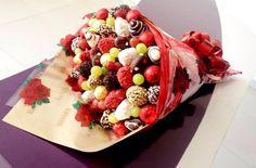 Ramalhete morangos+chocolate e uvas!