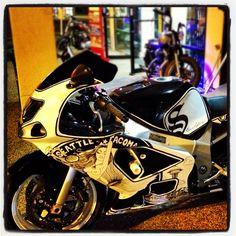 Sharpie Bike Custom Motorcycle Sport Bike GSX-R 600. Hand drawn with Sharpie Pen.  @ Cycle Gear Bike Nights
