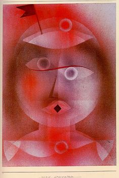 Paul Klee, The Mask with the Little Flag, 1925. Via WikiPaintings