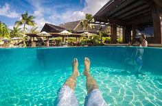 Our pool bar seen from a gopro  Regram: @goprofr #ICMoorea #Moorea #FrenchPolynesia