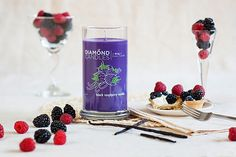 Black Raspberry Vanilla Soy Candle by Diamond Candles