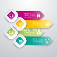 ベクトル イラスト インフォ グラフィック 4 オプション。株式ベクトル — ストックイラストレーション #99386888