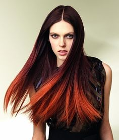 ombre red hair Stylish