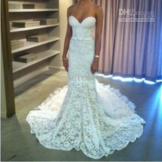 Best 2013 New Arrival Inbal Dror Spaghetti Floor Length Long Train Crystals Backless Wedding Dress Online with $186.0/Piece | DHgate