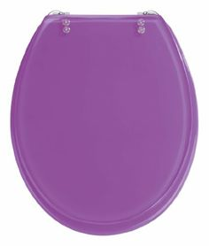 Wenko 18930100 Resin Toilet Seat, Tropic Purple