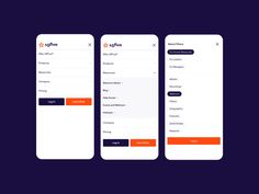 Mobile menus by Brian Perez for Focus Lab on Dribbble