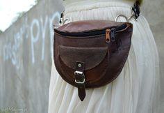 Skórzana nerka odcienie brązu nerki czajkaczajka waist leather