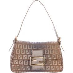 Pre-owned Fendi Zucchino Handle Bag ($245) ❤ liked on Polyvore featuring bags, handbags, brown, fendi handbags, pre owned handbags, preowned handbags, hand bags and canvas handbags