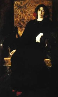 Kazimierz Stabrowski Portret żony, 1907 Muzeum Narodowe w Warszawie  Żoną Stabrowskiego była Julia Janiszewska, utalentowana rzeźbiarka,...