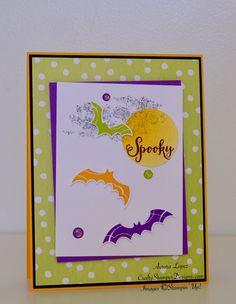 Halloween Handmade Card Kit, Stampin' Up! - 'Spooky Bats' - Set Of 4 Halloween 2018, Halloween Cards, Fall Halloween, Halloween Ideas, Thanksgiving Cards, Christmas Cards, Pumpkin Cards, Card Kit, Homemade Cards