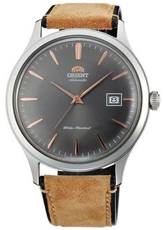 "ORIENT ""Bambino 4"" Classic Automatic with Hand Winding Grey Dial Watch FAC08003A"