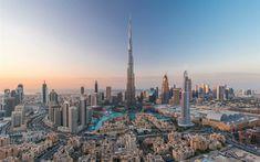 Descargar fondos de pantalla Dubai, Burj Khalifa, 4k, rascacielos, edificios modernos, EMIRATOS árabes unidos, el centro de