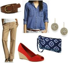 Style remix khakis american outfit