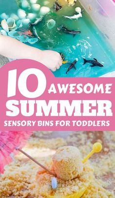 Summer fun for toddlers and preschoolers with these simple sensory bins and tubs to set up for hours of play all summer long