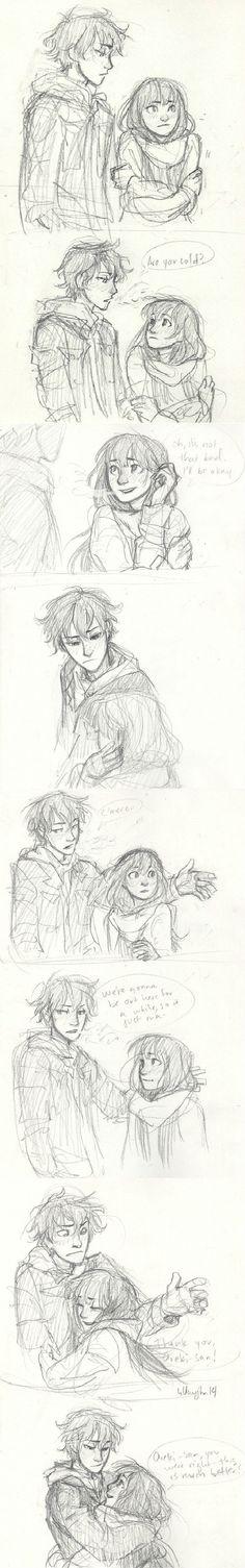 Chitanda Eru and Houtarou Oreki - Hyouka comic