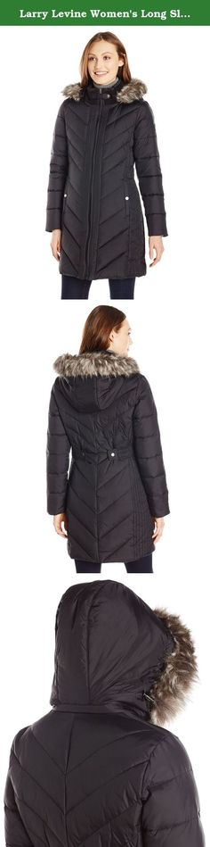 London Fog Women's Down Coat with Quilted Side Panels Black