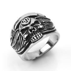 Fashion Finger Rings 316L Stainless St Black Zircon  Rivet  Biker Ring for Men Gift