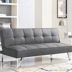 online shopping for Twin Tufted Back Convertible Sofa Serta Futons from top store. See new offer for Twin Tufted Back Convertible Sofa Serta Futons Futon Chair, Sofa Bed, Lounge Sofa, Living Room Furniture, Home Furniture, Bed Positions, Comfort Gray, Lit Simple, Bedroom Sofa