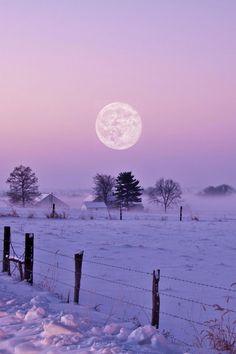 Full moon over winters glory