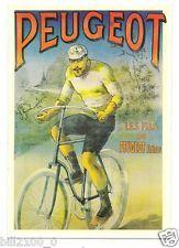 carte postale . publicité . cycle Peugeot