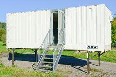 Mobile Sauna im Wechselkoffer / Container Mobiles, Mobile Sauna, Container, Homes, Mobile Phones