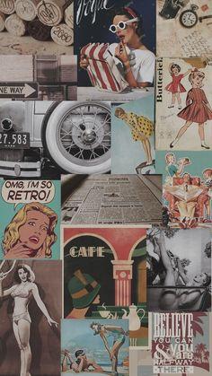 33 Ideas for wallpaper retro vintage Tumblr Wallpaper, Ed Wallpaper, Wallpaper Collage, Collage Background, Trendy Wallpaper, Aesthetic Pastel Wallpaper, Wallpaper Iphone Cute, Screen Wallpaper, Cute Wallpapers
