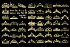 Gold Foil Tiaras & Crowns by FrankiesDaughtersDesign on Tiara Drawing, Crown Drawing, Crown Illustration, Graphic Illustration, Crown Clip Art, Blue Suit Wedding, Princess Crowns, Princess Tiara Tattoo, Princess Party